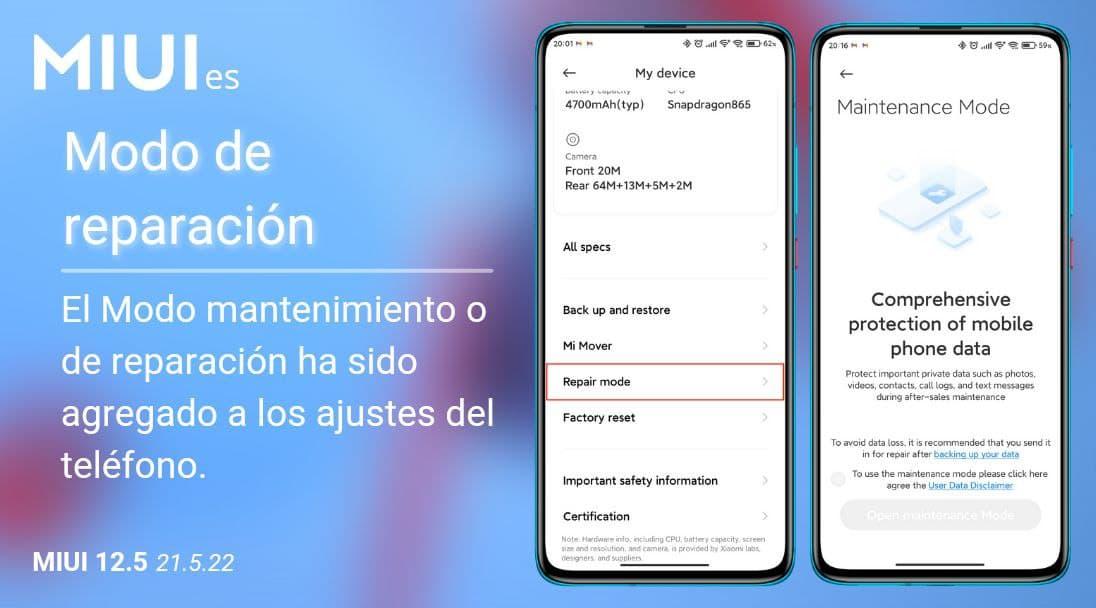 Xiaomi lanza un nuevo modo mantenimiento para sus smartphones: así funciona. Noticias Xiaomi Adictos