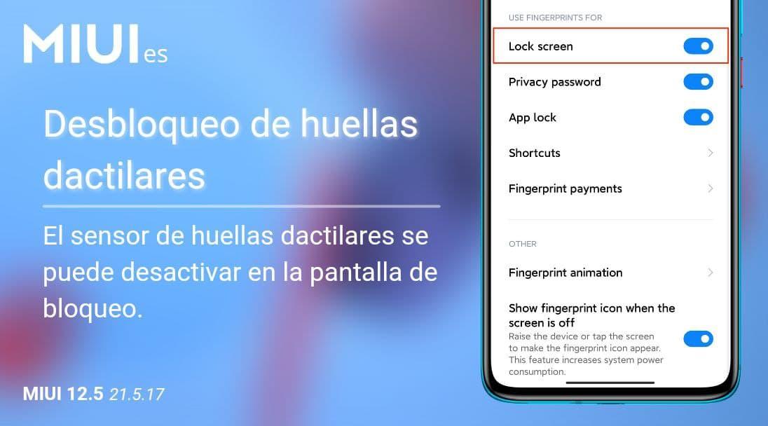 Xiaomi añade una importante novedad a MIUI relacionada con el lector de huellas. Noticias Xiaomi Adictos