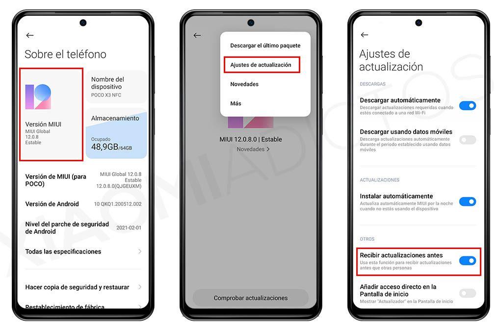 Activando esta opción de MIUI harás que tu Xiaomi reciba antes MIUI 12.5. Noticias Xiaomi Adictos