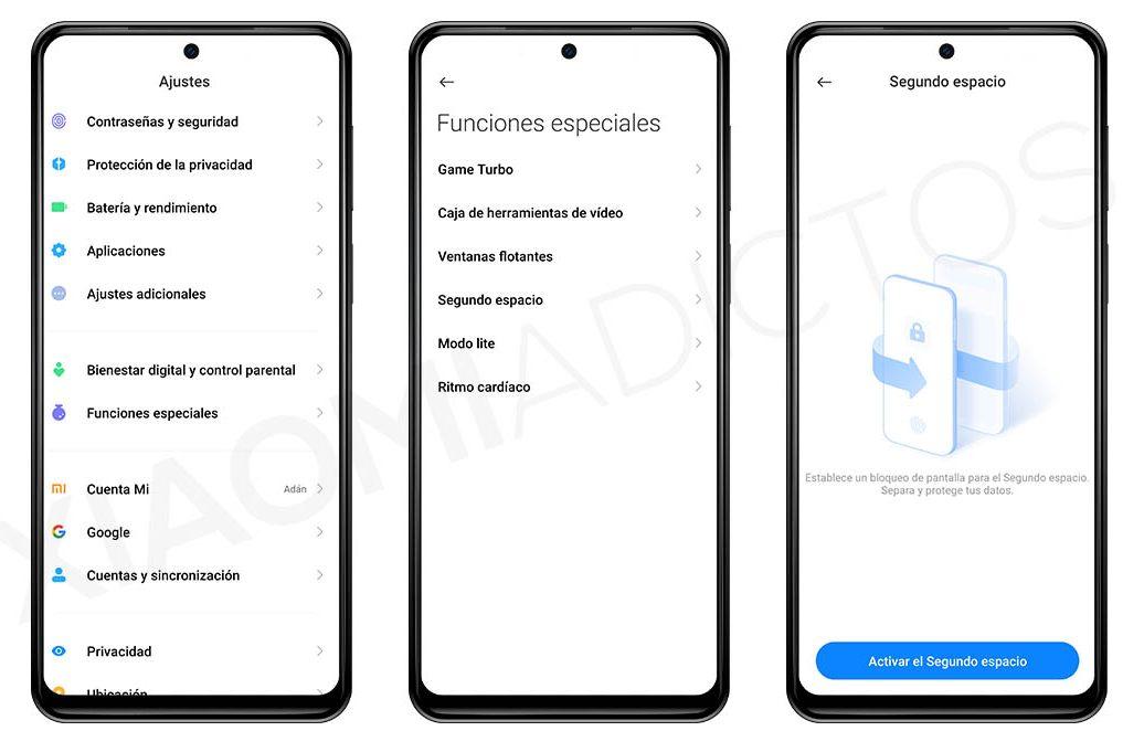 Qué es el segundo espacio de MIUI y como puedes activarlo en tu Xiaomi. Noticias Xiaomi Adictos