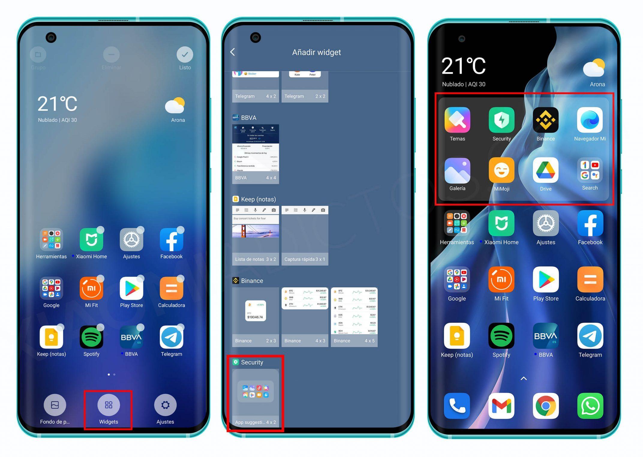 Así puedes instalar los nuevos widgets inteligentes de MIUI en tu Xiaomi. Noticias Xiaomi Adictos
