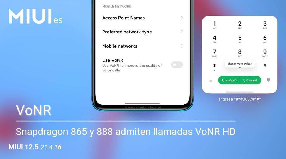Las llamadas VoNR llegan a MIUI: qué son y cómo se activan en un Xiaomi. Noticias Xiaomi A