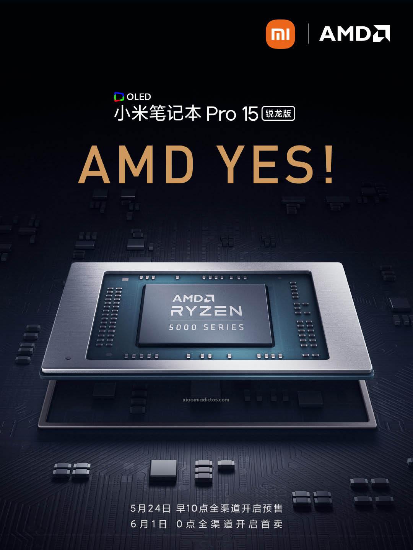 Xiaomi relanzará su Mi Laptop Pro 15, está vez con los AMD Ryzen 5000. Noticias Xiaomi Adictos