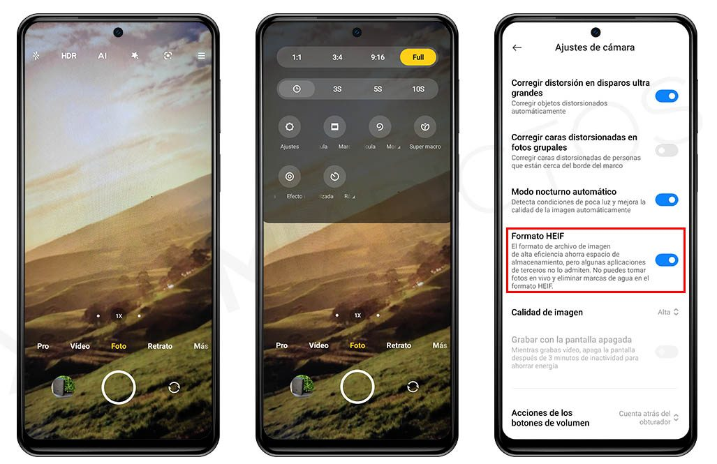 Make the photographs occupy half and save space on your Xiaomi with this option.  News Xiaomi Addicts