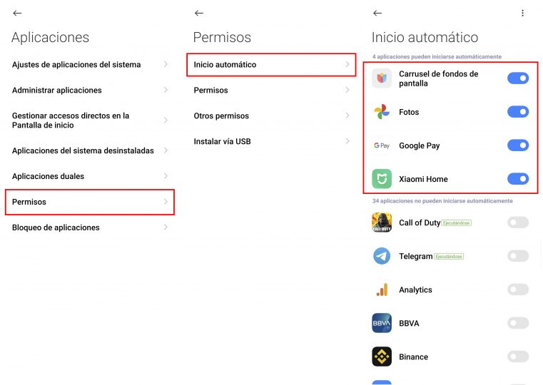 Desactiva el inicio automático de las aplicaciones