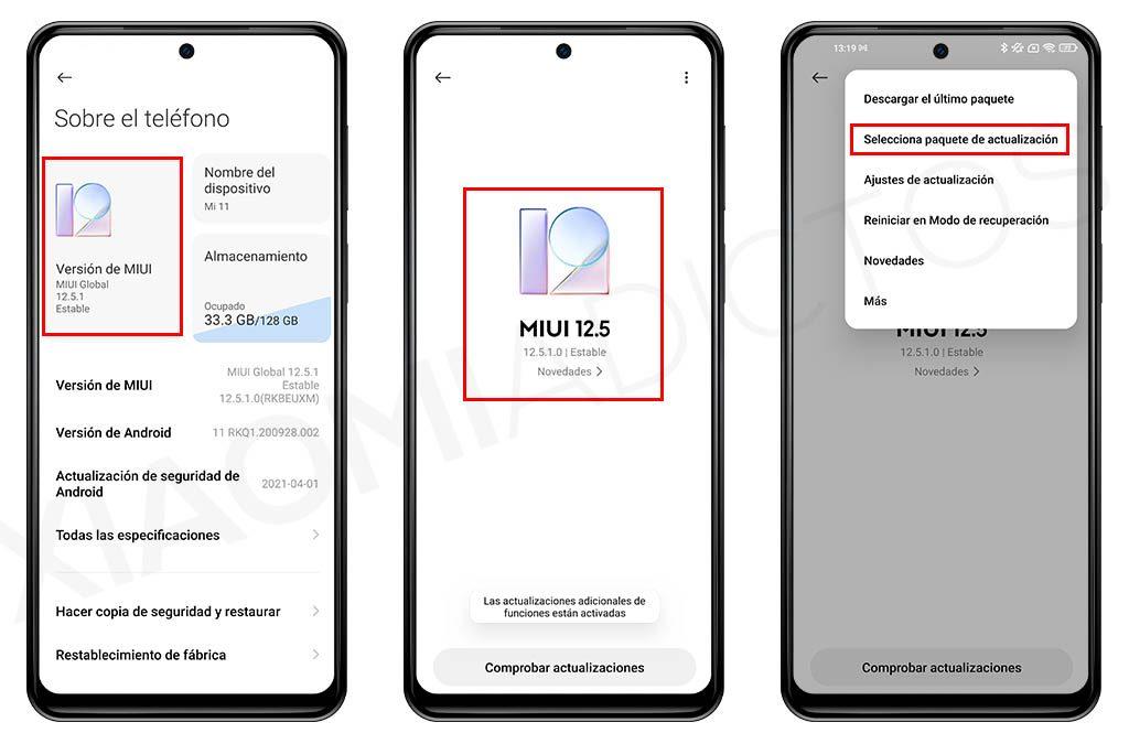 Cómo descargar e instalar MIUI 12.5 manualmente en tu Xiaomi. Noticias Xiaomi A