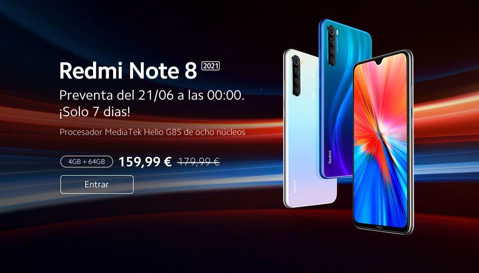 El Redmi Note 8 2021 ya tiene fecha de llegada a España y este será su precio. Noticias Xiaomi Adictos