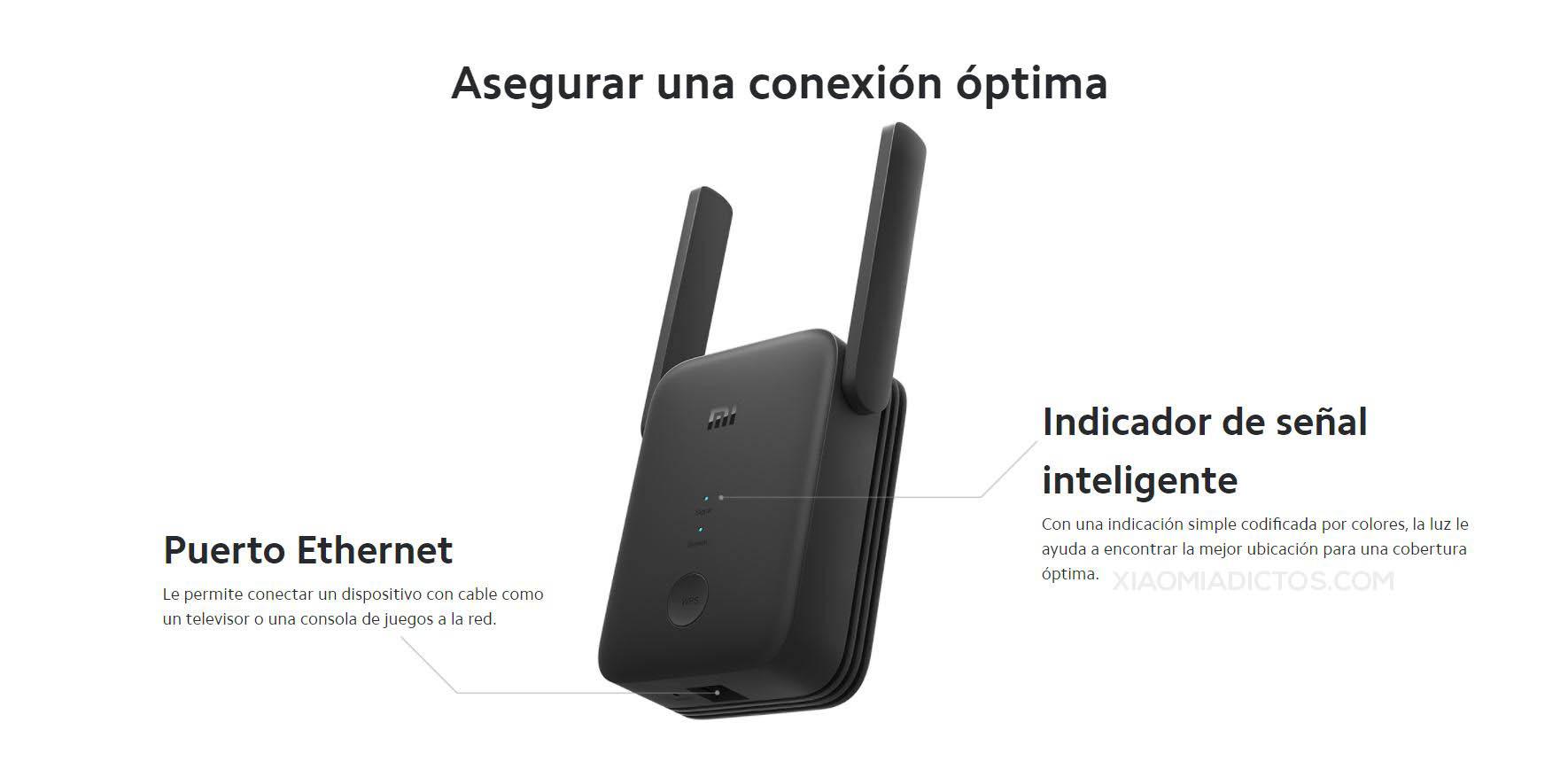 Xiaomi lanza el Mi WiFi Range Extender AC1200, un nuevo repetidor WiFi con puerto Ethernet. Noticias Xiaomi A