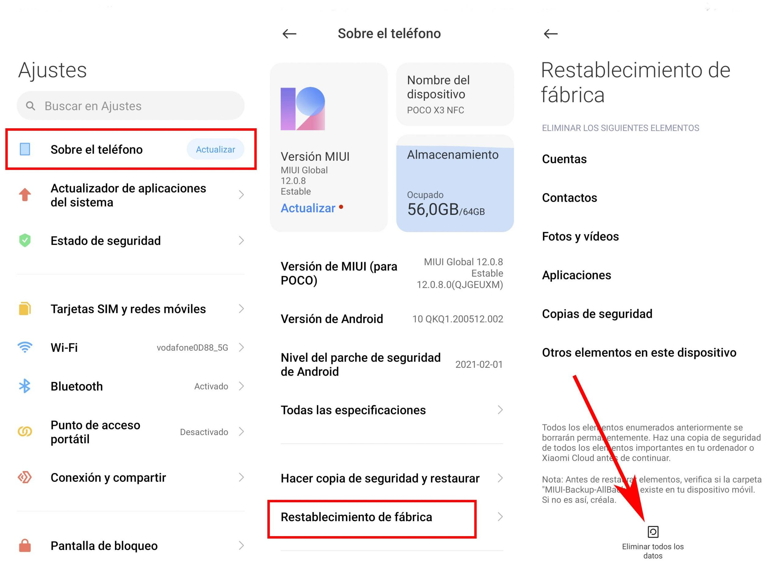 Cómo restaurar tú Xiaomi a los valores de fábrica manteniendo la misma versión de MIUI. Noticias Xiaomi Adictos