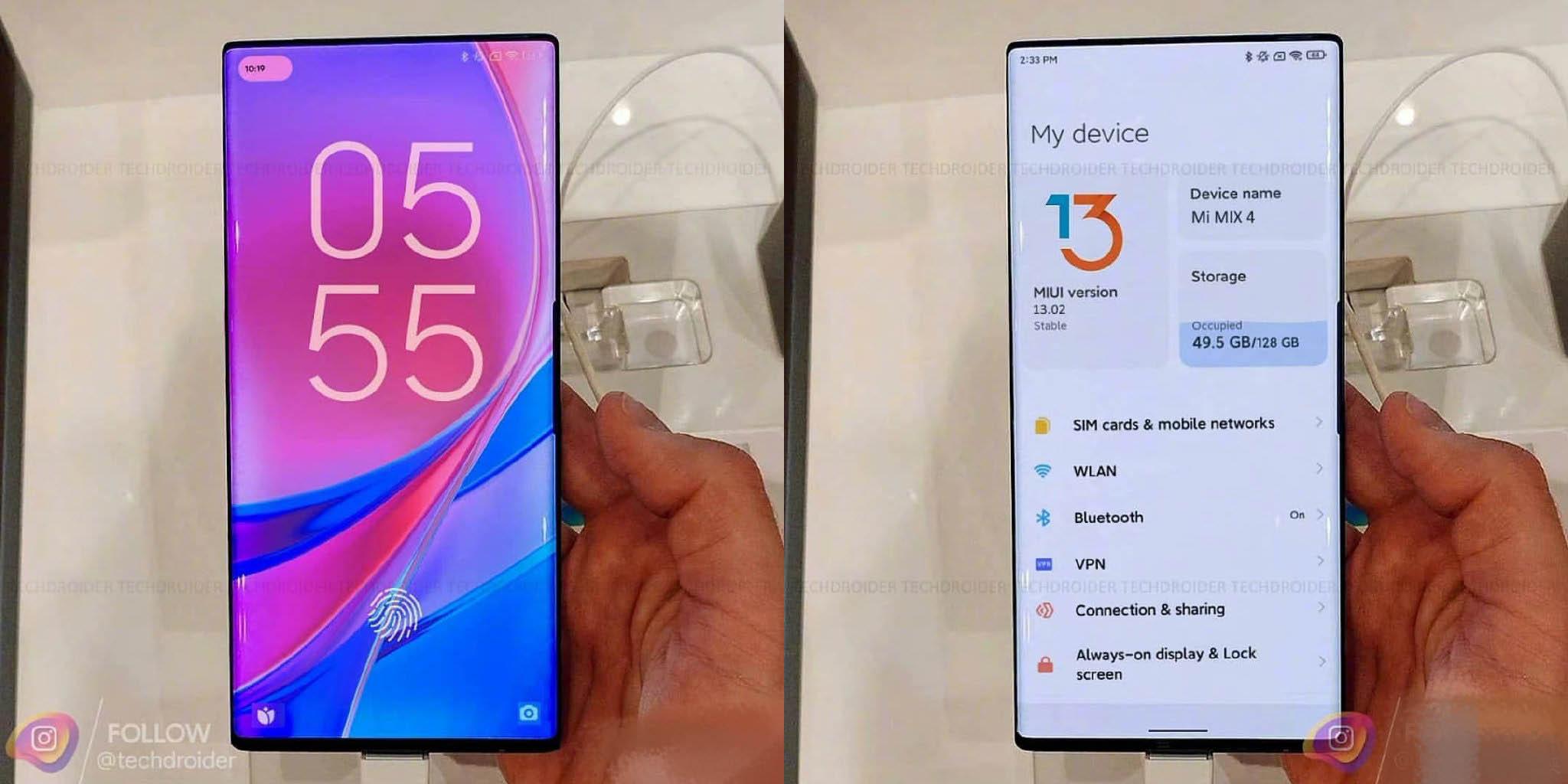 ¿Es este el Xiaomi Mi Mix 4 junto a la nueva interfaz de MIUI 13? . Noticias Xiaomi Adictos