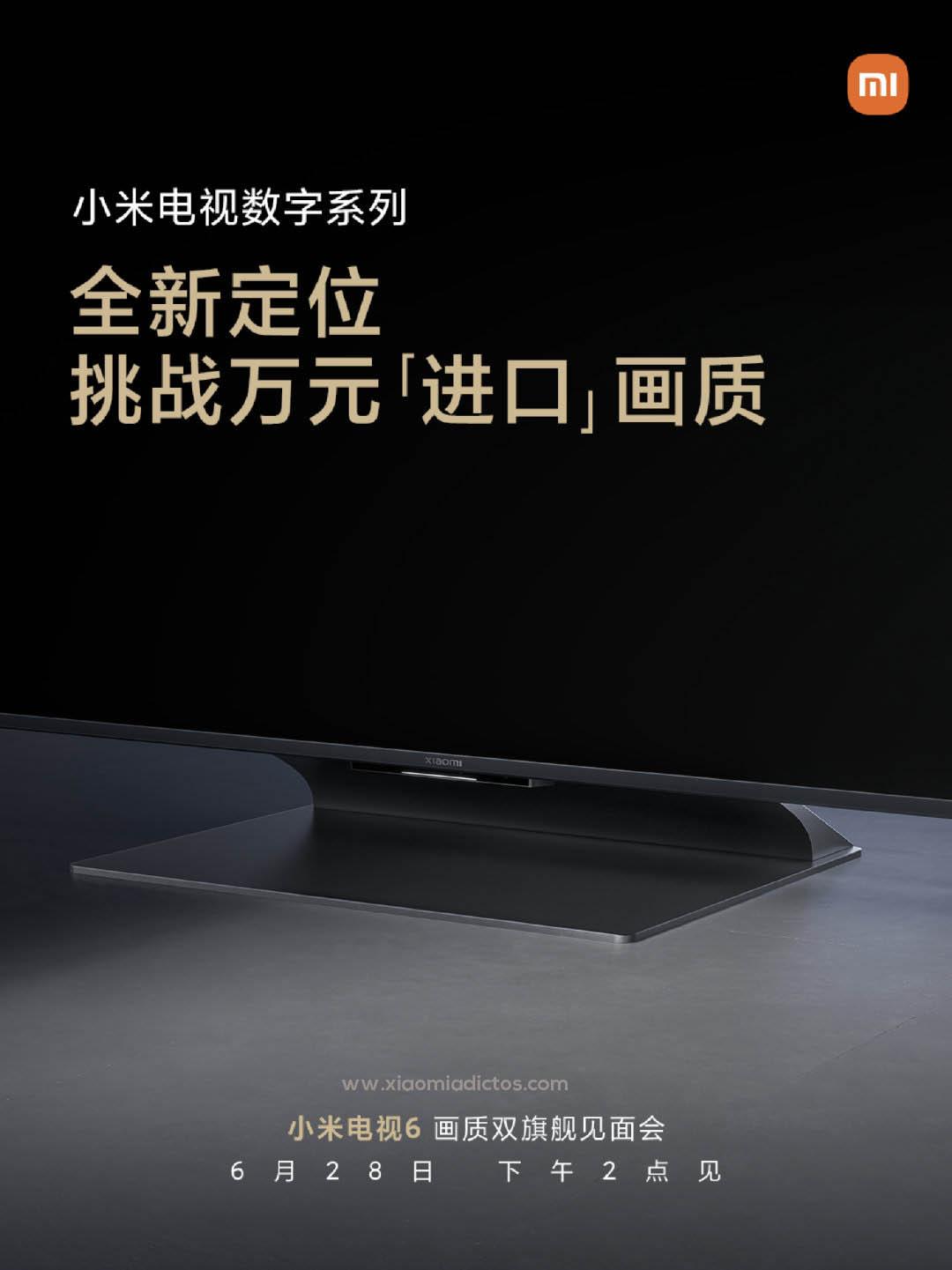 La nueva línea de televisores Xiaomi Mi TV 6 ya tiene fecha de presentación. Noticias Xiaomi Adictos