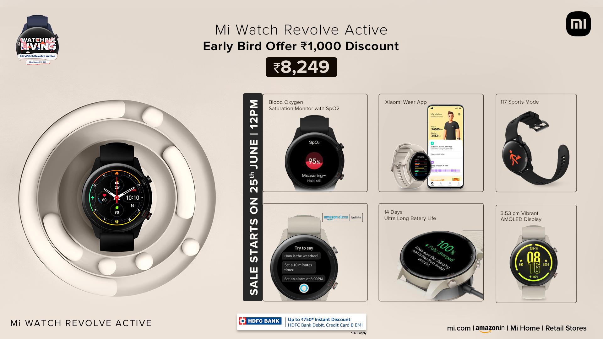 Nuevo Xiaomi Mi Watch Revolve Active: más deportivo y compatible con Apple Health y Strava. Noticias Xiaomi Adictos