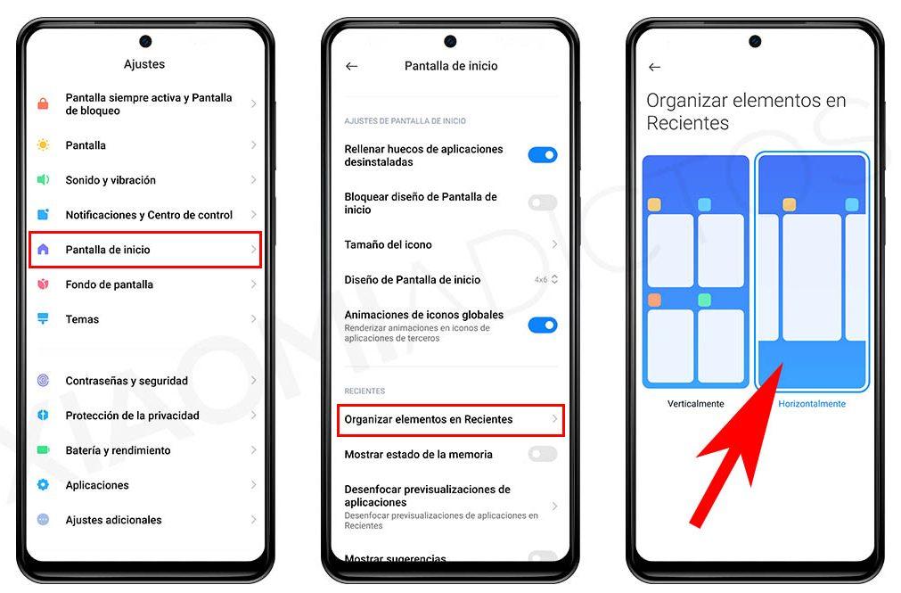 Cómo activar el multitareas horizontal al estilo iPhone en tu Xiaomi. Noticias Xiaomi Adictos