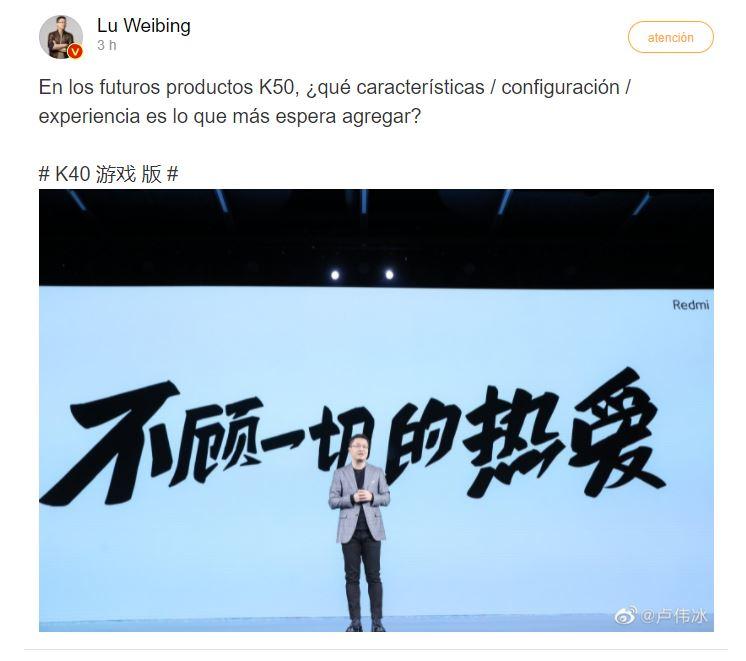 Xiaomi menciona por primera vez el Redmi K50, ¿presentación en breve?. Noticias Xiaomi Adictos