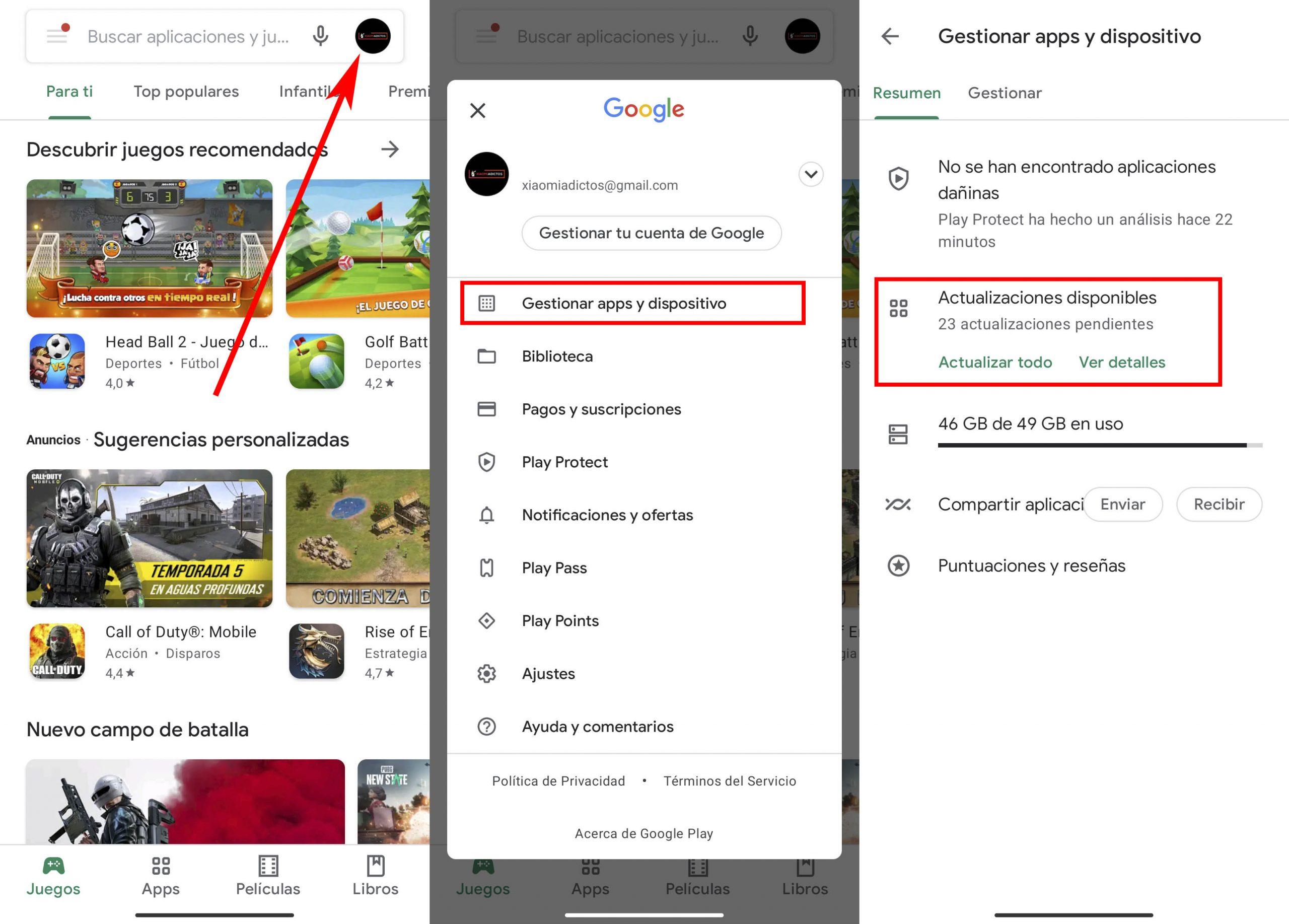Cómo actualizar las aplicaciones de tu Xiaomi a la última versión de la Google Play. Noticias Xiaomi Adictos