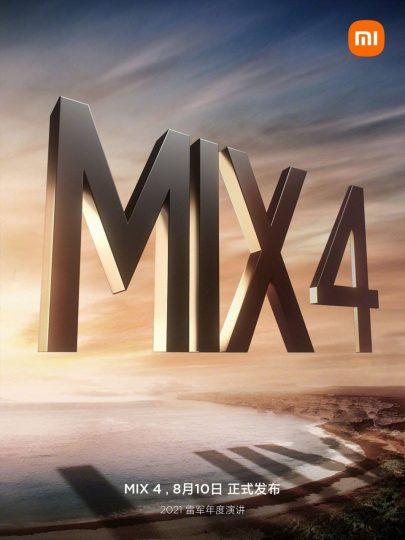 El Xiaomi Mi Mix 4 ya tiene fecha de presentación y al parecer no llegará solo. Noticias Xiaomi Adictos