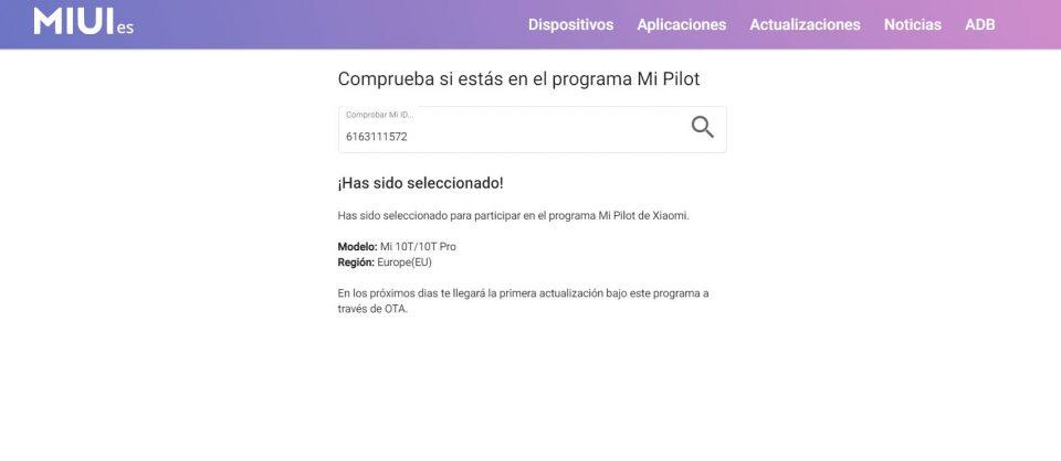 La forma más sencilla de saber si ya formas parte del programa Mi Pilot de Xiaomi. Noticias Xiaomi Adictos