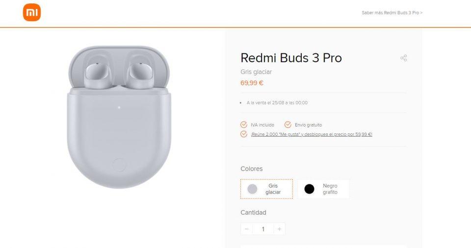Los auriculares Redmi Buds 3 Pro ya tienen fecha y precio de venta en España