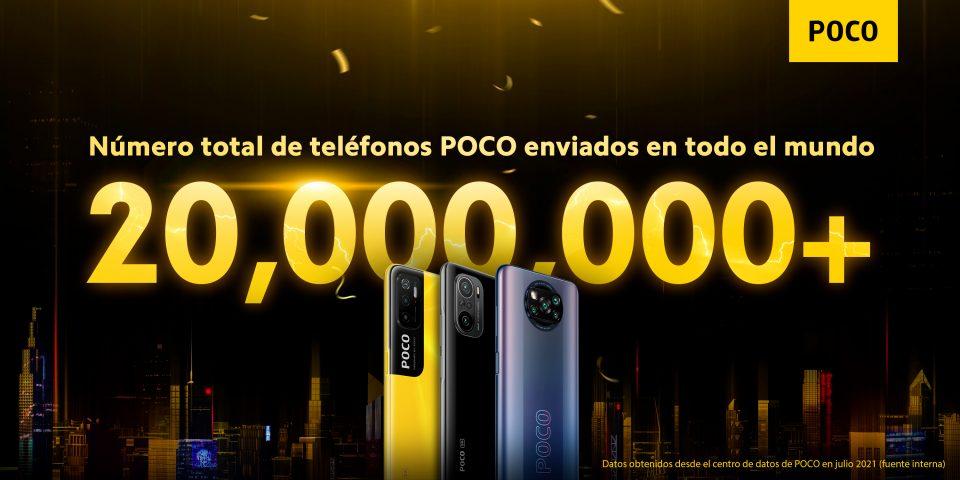 Sorprendente, POCO supera los 20 millones de smartphones vendidos en todo el mundo. Noticias Xiaomi Adictos