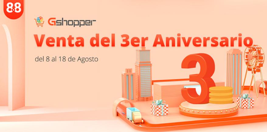 Gshopper celebra su 3 aniversario con grandes ofertas en productos Xiaomi. Noticias Xiaomi Adictos