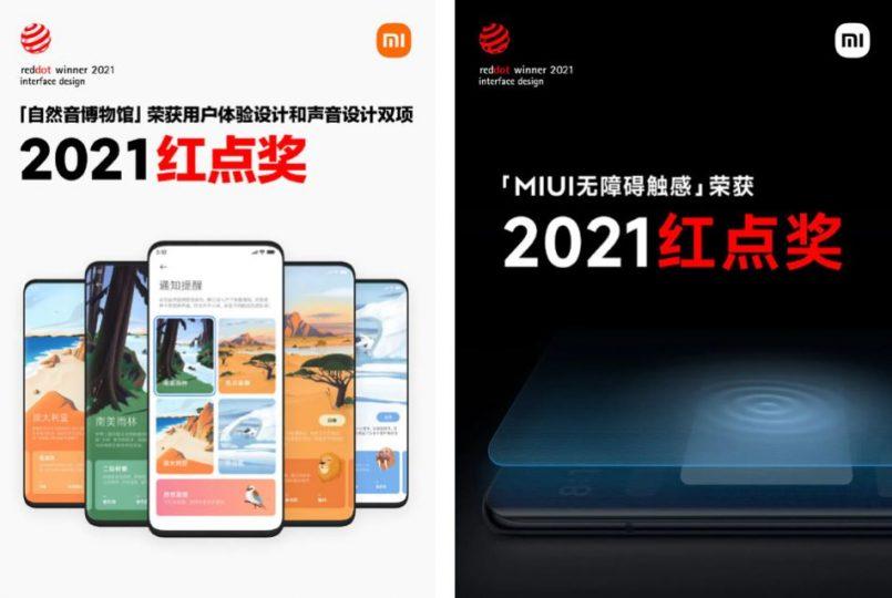 Xiaomi vuelve a ser galardonado en los Red Dot Awards 2021 gracias a MIUI 12.5. Noticias Xiaomi Adictos