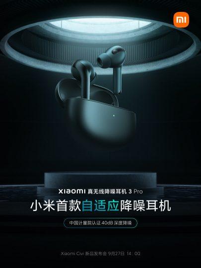Nuevos Xiaomi Headphones 3 Pro, ahora con cancelación adaptativa de ruido. Noticias Xiaomi Adictos