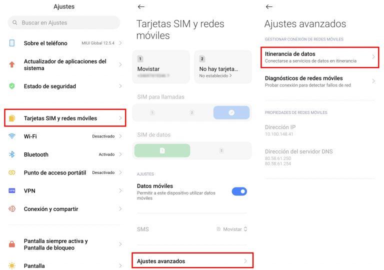 Qué es la itinerancia de datos y como puedes activarla en tu Xiaomi. Noticias Xiaomi Adictos