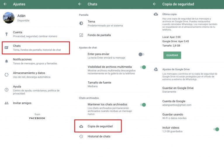 Cómo hacer una copia de seguridad de tus chats de WhatsApp desde un Xiaomi. Noticias Xiaomi Adictos