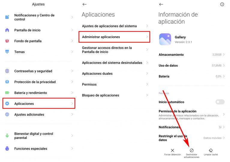 ¿Has actualizado una aplicación de tu Xiaomi y no va bien? así puedes volver atrás. Noticias Xiaomi Adictos