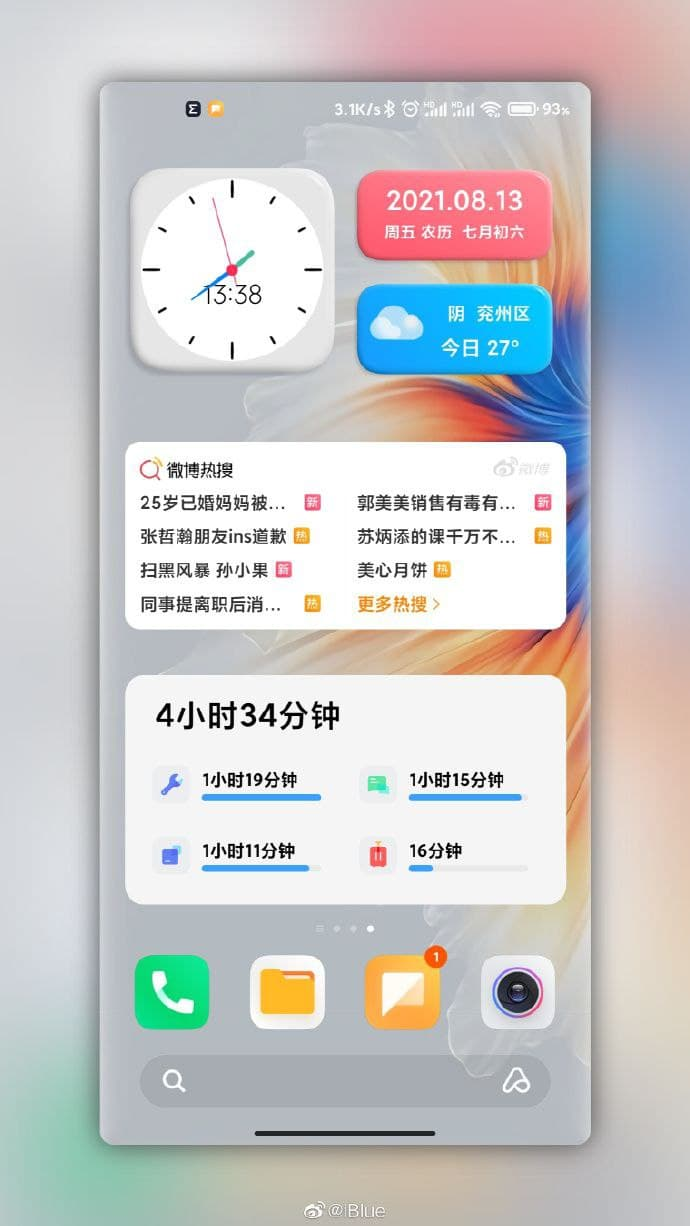 MIUI 13 en widgets
