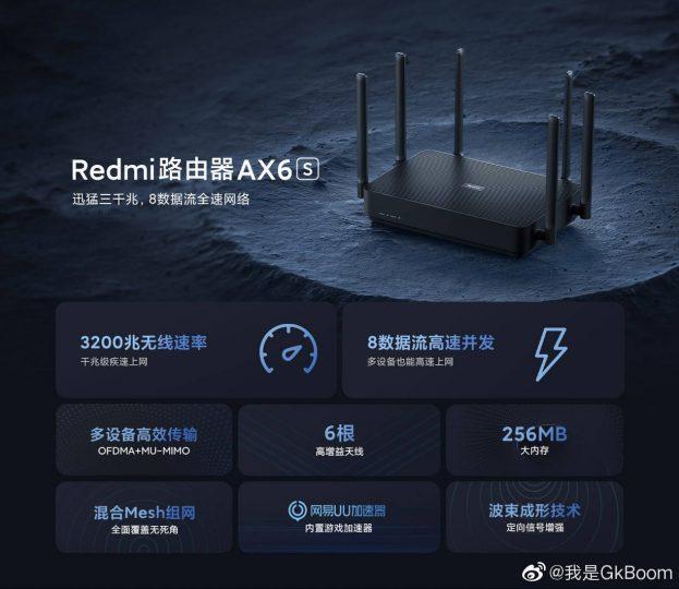 Nuevo Redmi Router AX6 S:capaz de alcanzar los 3.202Mbps por muy poco. Noticias Xiaomi Adictos