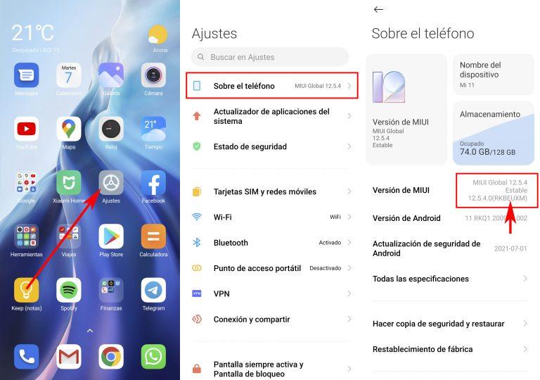 Cómo saber si tienes la versión Global o Europea de MIUI en tu Xiaomi. Noticias Xiaomi Adictos