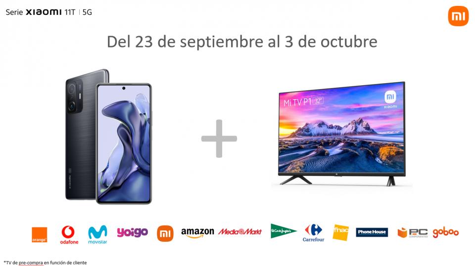 Ya puedes comprar el nuevo Xiaomi 11T Pro y llevarte un televisor de regalo. Noticias Xiaomi Adictos