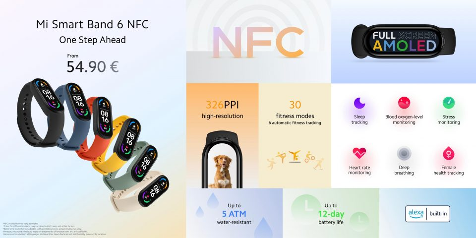 La Xiaomi Mi Band 6 con NFC ya está aquí: novedades y precio. Noticias Xiaomi Adictos