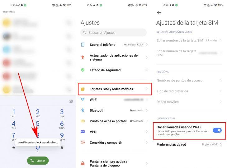 Cómo hacer o recibir llamadas en tu Xiaomi incluso si no tienes cobertura.  Noticias de Xiaomi Addicts