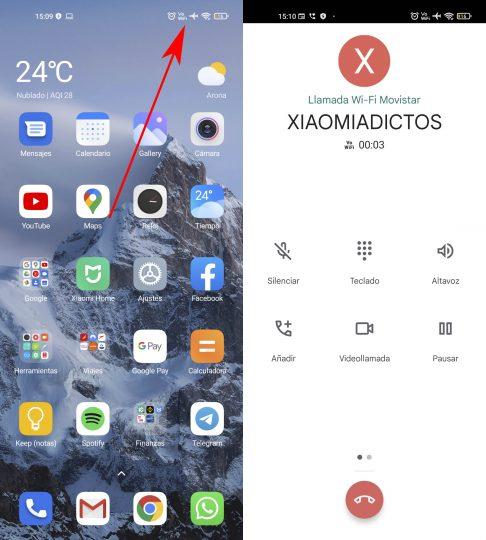 Cómo realizar o recibir llamadas en tu Xiaomi aunque no tengas cobertura. Noticias Xiaomi Adictos