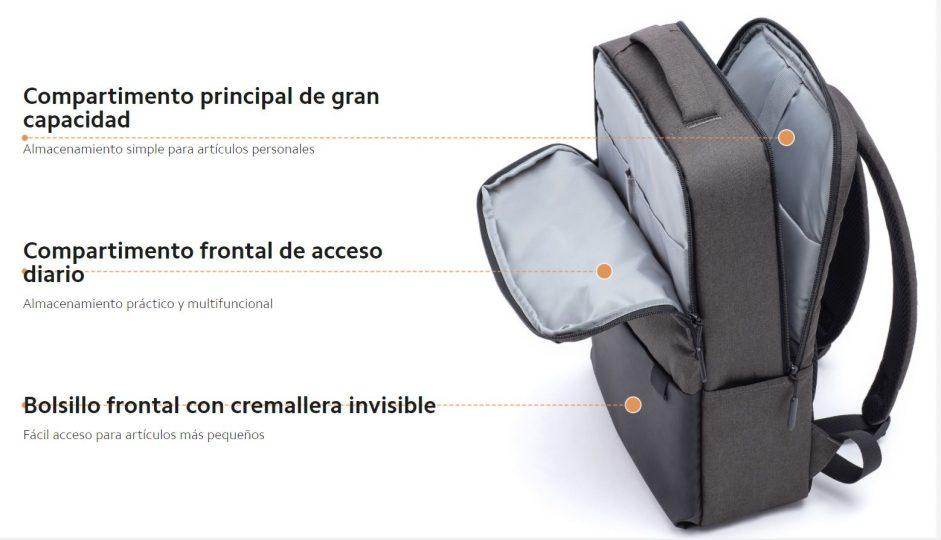 Esta mochila de Xiaomi cuenta con hasta bolsillo antirrobo. Noticias Xiaomi Adictos