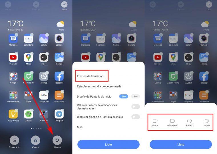 Así puedes cambiar los efectos de transición de la pantalla de tu Xiaomi. Noticias Xiaomi Adictos